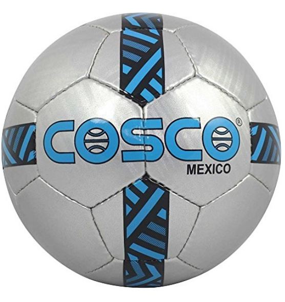 Cosco Mexico Football, Size 5 (Silver-Sky Blue)