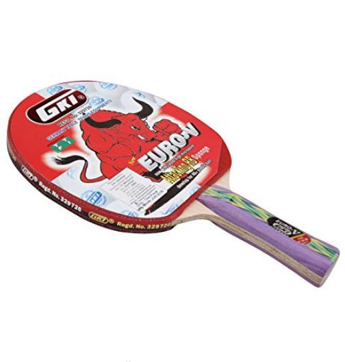 GKI Euro V Table Tennis Racquet (Multicolor)_FRONT