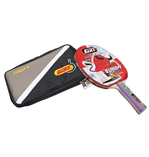 GKI Euro V Table Tennis Racquet (Multicolor)_WITH COVER