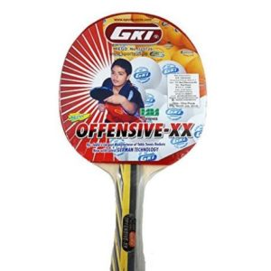 GKI Offensive XX New Computerised Printed Cover Table Tennis Racquet_FRONT
