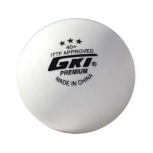 GKI Premium 3 Star 40 Table Tennis Ball, Box of 3 (White)