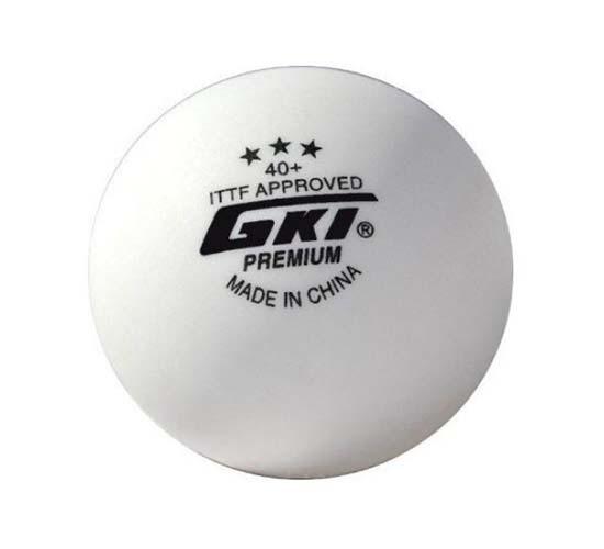 GKI Premium 3 Star 40 Table Tennis Ball, Box of 3 (White)