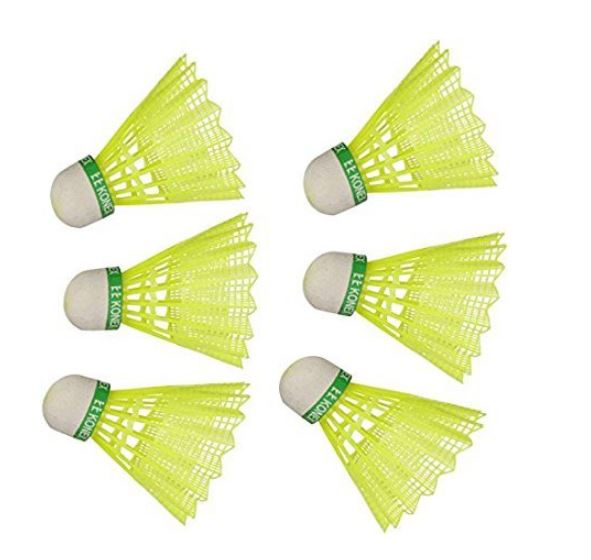 Konex Nylon Green Shuttlecock for Boys and Girls
