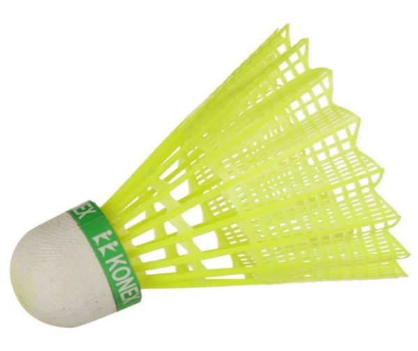 Konex_Nylon Green Shuttlecock for Boys and Girls Pack of 6