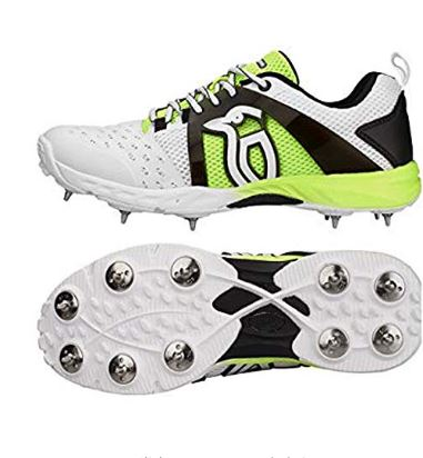 Kookaburra Cricket Shoes Spike, Fluo Yellow