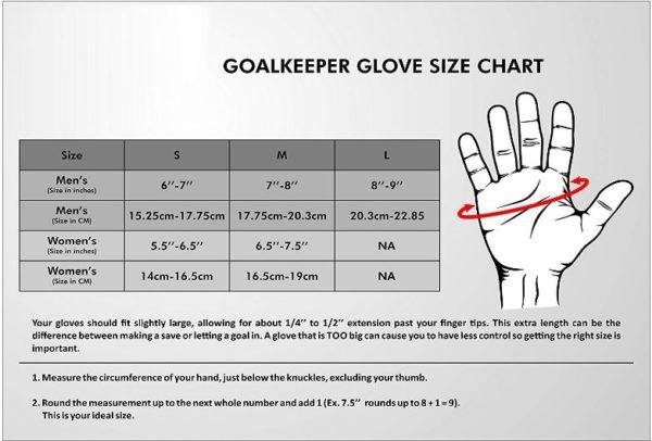 Nivia 897-L Web Goalkeeper Gloves_HAND SIZE CHART