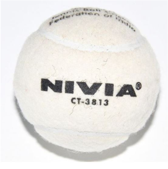 Nivia Heavy Weight Rubber Cricket Tennis Ball_white