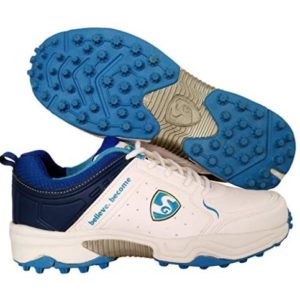 SG Latest Superior Cricket Shoes with Rubber Spikes for Men (White_Aqua)