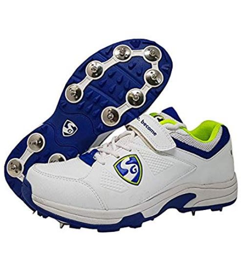 SG New Seamer Cricket Shoes with Full Metal Spikes