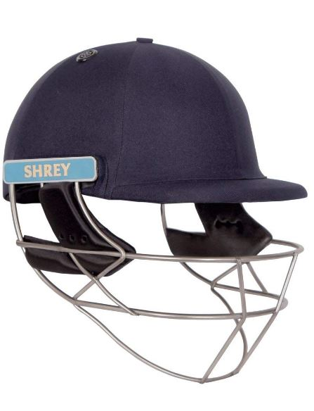 Shrey Master Class Air Stainless Steel Visor Cricket Helmet, Men's Small (Navy Blue)