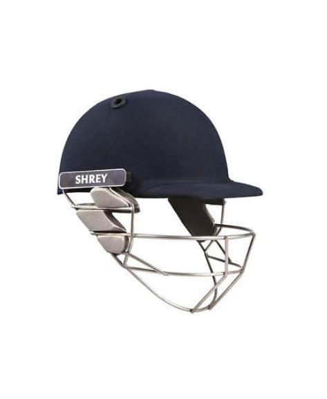 Shrey Sh101006 Pro Guard Cricket Helmet with Stainless Steel Visor, (Navy Blue)