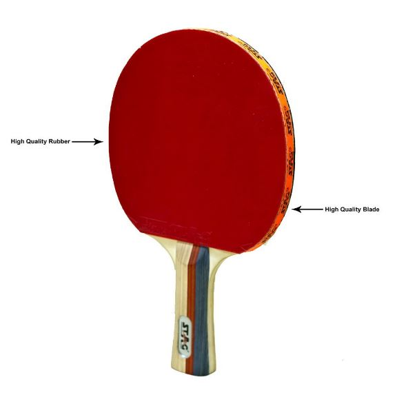 Stag 2 Star Table Tennis Racquet_LEFT