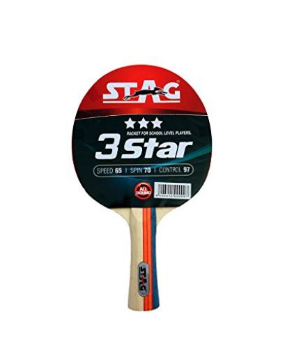 Stag 3 Star Table Tennis Racquet_FRONT