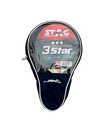 Stag 3 Star Table Tennis Racquet_WITH COVER