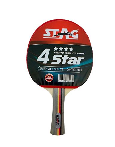 Stag 4 Star Table Tennis Racquet (Multicolor)_FRONT