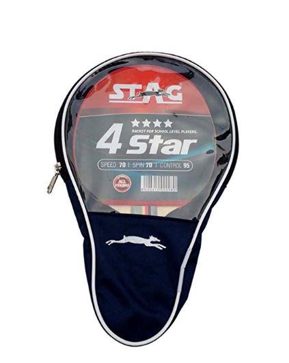 Stag 4 Star Table Tennis Racquet (Multicolor)_WITH COVER