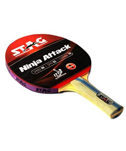 Stag Ninja Attack Table Tennis Racquet_SIDE
