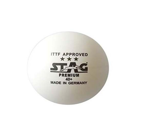 Stag Three Star Premium Table Tennis Ball (White)