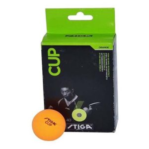 Stiga Cup Table Tennis Ball, Pack of 6 (Orange)
