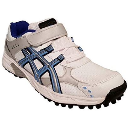 VIJAYANTI SHOES Men's White Sky Cricket Shoes - 8