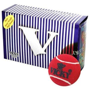 Vicky Cricket Tennis Ball - Heavy, Maroon