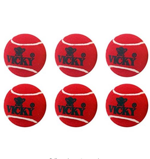 Vicky Cricket Tennis Ball - Heavy, Maroon_6