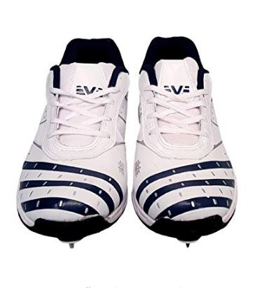 Vijayanti OC28 White Cricket Full Spikes Shoes