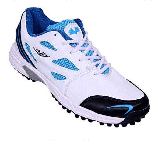 Vijayanti Sports Cricket-Hockey Shoes for Men (White Blue)