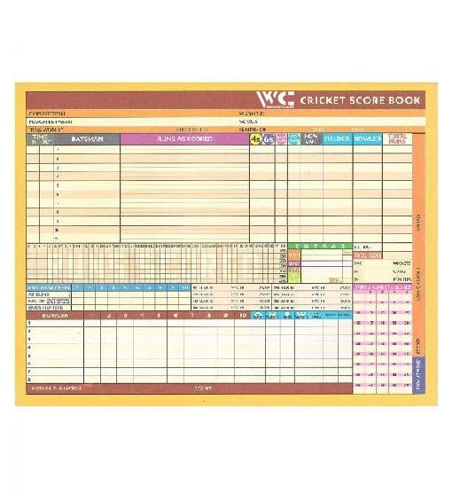 WillCraft Cricket Score Book_blank part