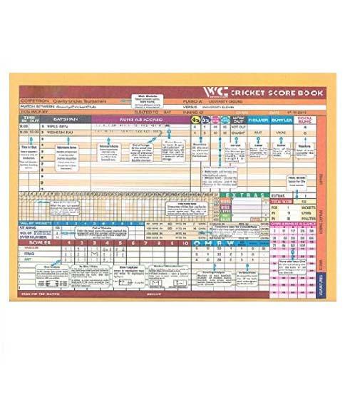 WillCraft Cricket Score Book_inner part