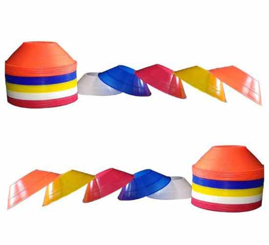 Willcraft New Multi_Color Saucer Cones pack of 50