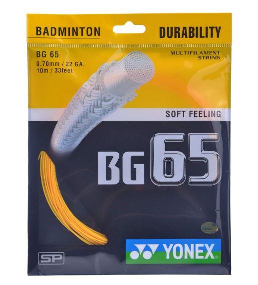 Yonex BG 65 Badminton Strings, 0.70mm (ORANGE)