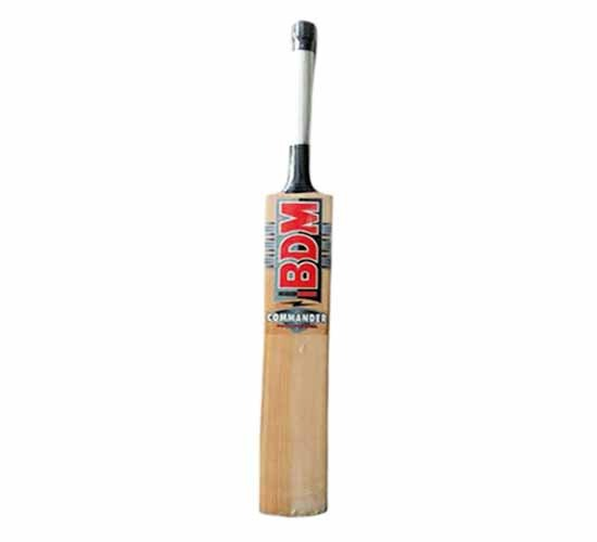 BDM Commander Max Power Prime Grade Kashmir Willow Willow Cricket Bat-Short Handle