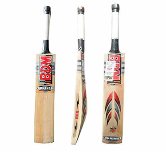 BDM Commander Max Power Prime Grade Kashmir Willow Willow Cricket Bat, Short Handle