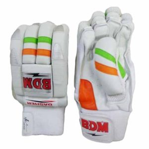 BDM Dasher Batting Gloves White Orange and Lime
