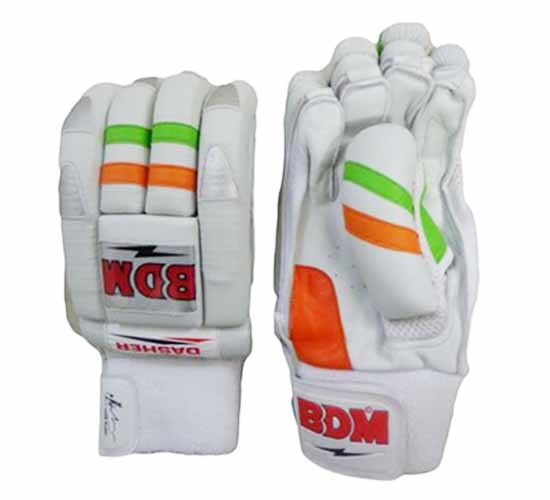 BDM Dasher Batting Gloves White Orange and Lime