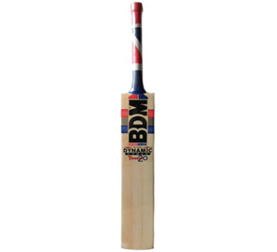 BDM-Dynamic Power 20 20 English Willow Cricket Bat With Free Anti Stuff Sheet