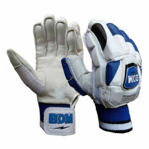 BDM Dynamic Super Cricket Batting Gloves White & Blue