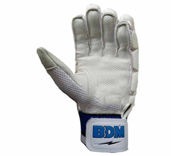 BDM Dynamic Super Cricket Batting Gloves White and Blue