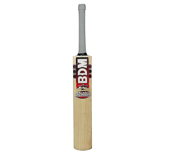 BDM Master Blaster English Willow Cricket Bat Full Size with Cover