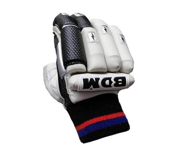BDM-Sachin Special Batting Gloves White and Black