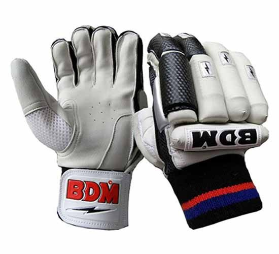 BDM Sachin Special Batting Gloves White and Black
