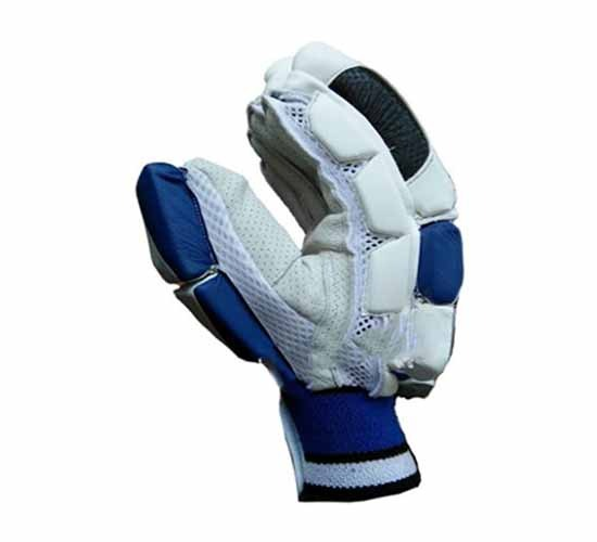 BDM_Dynamic Super Cricket Batting Gloves White & Blue