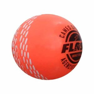 FLASH Men's Synthetic Cricket Ball (Orange)