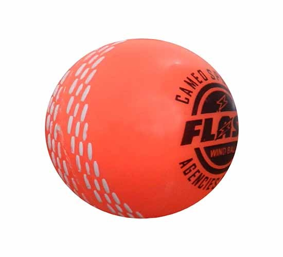 FLASH Men's Synthetic Cricket Ball (Orange)