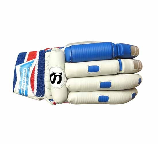Setia International Elite V.K Design Batting Gloves for Right Handed Batsman (Multicolour)