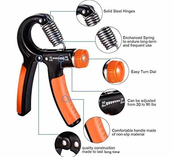 WillCraft Adjustable Hand Grip Strengthener3