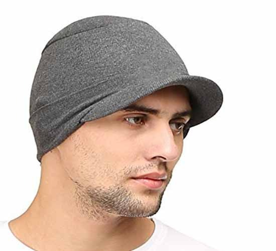 WillCraft Pure Cotton Skull Pro Cap2_charcoal grey