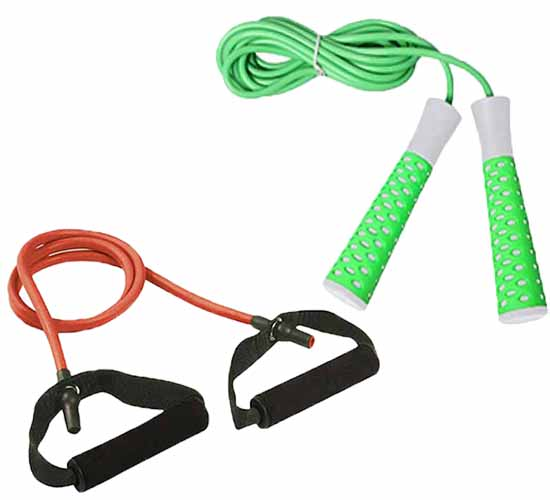 Cosco Exercise Combo of Heavy Toning Tube & Elevate Jump Rope