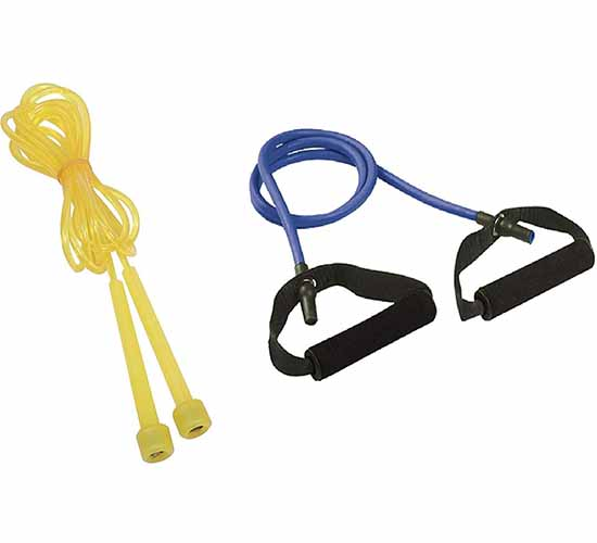 Cosco Exercise Combo of Light Toning Tube & Speedy - Yellow Jump Rope